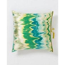 Watercolor Ikat Square Pillow - Anthropologie.com