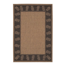 """Couristan - Recife Tropics Rug 1177/2500 - 2' x 3'7"""" - These weather-defying area rugs are suitable for indoor and outdoor use. You'll love the way they color-coordinate with today's most popular outdoor furniture pieces. The collection's naturally inspired color palette will provide a warmer and more inviting appearance for patio decks and stone entryways."""