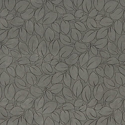 Grey Leaves Microfiber Upholstery Fabric By The Yard - This microfiber upholstery fabrics is great for all residential, contract, hospitality and automotive purposes. Our microfiber fabrics are stain resistant, heavy duty and machine washable. This pattern is non-directional.