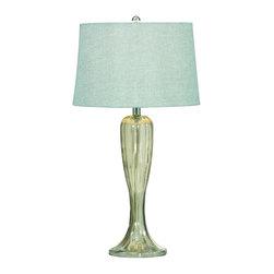 Bassett Mirror - Gable Shaped Glass Table Lamp - Gable Shaped Glass Table Lamp by Bassett Mirror