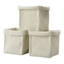 Carina Bengs - Komplement Basket - These faux knit baskets stole my heart at first glance. They are soft yet sturdy, and I love their coastal/beachy feel.