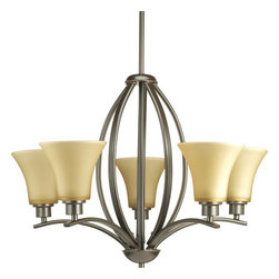 Progress Lighting - Progress Lighting P4490-20 Joy Five-Light Single-Tier Chandelier with Fluted - Features: