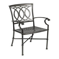 Winston Marseille Cast Aluminum Dining Chair - With its classical design and intricate detailing, you'll love the way the Winston Marseille Cast Aluminum Dining Chair adds a hint of elegance to your patio area. Crafted from cast and extruded aluminum, and available in your choice of finish, this strong and durable chair has a 15 year warranty. Its contoured surfaces make it exceptionally comfortable, even without a cushion. Easy to clean with soap and water, this chair arrives at your home fully assembled. About Winston Furniture CompanyStarted in 1975, Winston Furniture Company manufactured simple aluminum furniture with virgin vinyl straps. As the popularity of casual furniture increased and consumers craved comfort, Winston answered the call by being the first company to introduce cushioned, mildew-resistant fabrics for outdoor use. In 1982, Winston was once again at the forefront by adding stylish, easy-to-maintain sling furniture to its product line.Today, the Winston Furniture line is comprised of cushion and sling furniture with a host of styles. A variety of powder-coated paint finishes and sling colors, along with over a hundred fabric selections allow you to make just the look you need. All Winston Furniture product materials are proudly sourced in the U.S.A. Welding is completed in a state-of-the-art manufacturing facility in Juarez, Mexico. Products are shipped to El Paso, Texas for finishing and final inspection before being shipped to your door.Winston Furniture Company, Inc. has earned several design and service awards from retailers over the past 25 years. The most notable of these honors is the National Association of Casual Furniture Retailers's; (NACFR) Casual Furniture Manufacturer Leadership Award. Since the awards' inception in 1990, Winston is a four-time recipient as well as a finalist every year.