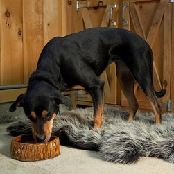 "Frontgate - Hide Shaped Faux Fur Dog Bed - Small (42""L x 32""W) Dog Bed - Faux fur with black fleece backing is conveniently machine washable. Soft and supportive polyfill cushion. Slight shedding may occur. A dog bed so soft, you'll want to lay on it, too. The Hide-shaped Faux Fur Dog Bed is a wonderfully warm sleeping station that looks great in any room. This cozy and secure bed makes a great gift that will please both dog and owner.  .  .  . To machine wash, unzip and remove the fill, wash separately on gentle cycle with cold water. Tumble dry cool."