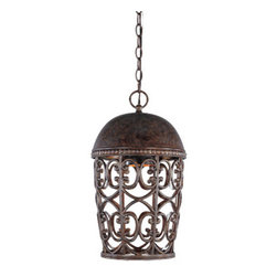 "Designer Fountain - Amherst-DS 10"" Hanging Lantern-DS - 10 inches wall lantern dark sky"