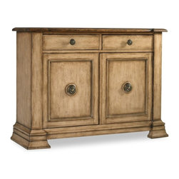 Hooker - Hooker Furniture Seven Seas Door Drawer Chest - As you create your home, selecting the perfect piece of furniture is important. This hall chest will offer a design that is fresh, timeless and sophisticated. Choose the Two Door, Two Drawer Chest will create your own personality statement that says thats my style. Place front and center in most any hallway or living room and top with things you love. Now thats instant style.