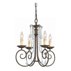 Crystorama Lighting - Crystorama Lighting 5204-DR-CL-MWP Soho Transitional / Eclectic Mini Chandelier - Crystorama Lighting 5204-DR-CL-MWP Soho Transitional / Eclectic Mini Chandelier In Dark Rust With Clear Hand Cut Crystal