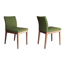 Aria Wood Chair by sohoConcept - Here the stylish Aria Wood Chair is shown in a cool green. Doesn't it have a great Mid-Century look? Add a long wood dining table surrounded by several of these lovely seats and you'll have a great modern dining room.