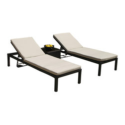 MangoHome - Outdoor Patio Wicker Pool Lounge All Weather 3 Piece Resin Recliner Set - This amazing outdoor lounge set comes in 3 different pieces. It is very functional, stylish and designed to meet your needs! Look at our pictures to view all of the possibilities! Each wicker set is hand crafted by trained professionals with premium quality materials assuring your set will last many years!