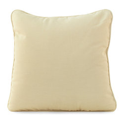 Frontgate - Athena Outdoor Throw Pillow, Patio Furniture - Ideal for any environment, including oceanfront and saltwater destinations. Smoothly woven of UV-resistant high-quality wicker. Hand-welded, durable aluminum frames. Generously proportioned frames accommodate plush outdoor cushions. Cushions covered in exclusive solution-dyed fabrics, created using only the finest materials and technology for longevity outdoors, including Sunbrella&reg. The Athena Collection by Summer Classics&reg brings graceful beauty to any outdoor space with its curved and elegant design. high-quality resin wicker is expertly hand-woven over durable aluminum frames to create the smooth lines of this exquisite collection. Athena's innovative materials create the perfect outdoor furnishings for any open air setting, including beach and salt water environments.  . . .  . . Woven tables with tempered glass tops. Dining table has hole for an umbrella (table assembly required). Note: Due to the custom-made nature of the cushions, any fabric changes or cancellations to the Athena Collection must be made within 24 hours of ordering.