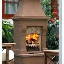 Calistoga Outdoor Wood Burning Fireplace - With no tools required for installation, the Calistoga Outdoor Wood Burning Fireplace is an easy and quick set-up away from your backyard. -Mantels Direct