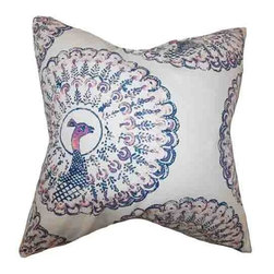 The Pillow Collection - Ieesha Blue 18 x 18 Animal Print Throw Pillow - - Pillows have hidden zippers for easy removal and cleaning  - Reversible pillow with same fabric on both sides  - Comes standard with a 5/95 feather blend pillow insert  - All four sides have a clean knife-edge finish  - Pillow insert is 19 x 19 to ensure a tight and generous fit  - Cover and insert made in the USA  - Spot clean and Dry cleaning recommended  - Fill Material: 5/95 down feather blend The Pillow Collection - P18-D-PABOREAL-SAPPHIRE-C95-L5