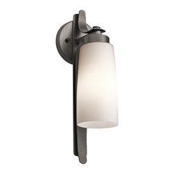Kichler 1-Light Outdoor Fixture - Anvil Iron Exterior - One Light Outdoor Fixture