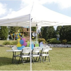 "King Canopy 10 x 10 ft. Instant Explorer Canopy - About King CanopyIn 1940, King Canopy started as a small family business in North Carolina. Since then, King Canopy has been providing customers with high quality outdoor covers, including canopies and cabanas, as well as other recreational covers and canopy products. These sturdily constructed products span a variety of uses, including providing shade and shelter for areas such as patios and greenhouses, to events such as parties and flea markets. Moreover, King Canopy's covers aptly protect cars, trucks, recreational vehicles, boats, and jet skis; they may also serve as a free-standing temporary carport, dock house, gazebo, or garage. With a mission """"to provide high quality, innovative outdoor leisure and sports products that offer tremendous value to our customers,"""" King Canopy remains committed to their values of family and honesty, and producing top-quality products."