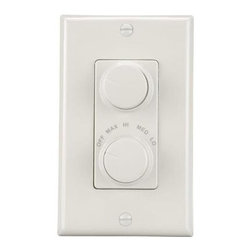 NuTone - NuTone Four Speed and Light Paddle Fan Wall Control White 79W - Shop for Lighting & Fans at The Home Depot. All NuTone residential ceiling fans operate with the pull chain that is included with each fan. This 79-Watt White 4 Fan Speed & Light Wall Control is used with all NuTone ceiling paddle fans. Any number of fans of the same type may be controlled by a single fan speed control provided that the total amperage of the fans does not exceed the amperage of the fan speed control. It is ideal for use where ceiling fan noise is distracting.