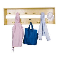 Jonti-Craft - Jonti-Craft Eleven Hook Wooden Wall Coat Rack - 0768JC - Shop for Coat Hooks and Racks from Hayneedle.com! The extremely convenient Eleven Hook Coat Rack is perfect for hanging up children s coats jackets sweaters hats and scarves. Constructed from sturdy wood with lead-free non-toxic paints this wall coat rack with eleven double coat hooks is a great way to make sure your children keep their rooms organized. Its ample space also makes the Eleven Hook Coat Rack a perfect choice for schools and day cares. To put an end to messy rooms order the Eleven Hook Coat Rack today. About Jonti-CraftFamily-owned and operated out of Wabasso Minn. Jonti-Craft is a leading provider of quality furniture for the early learning market. They offer a wide selection of creatively designed products in both wood and laminate materials. Their products are packed with features that make them safe functional and affordable. Jonti-Craft products are built using the strongest construction techniques available to ensure that your furniture purchase will last a lifetime.