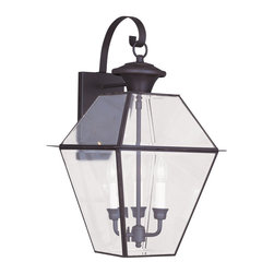 Livex Lighting - Livex Lighting 2381-07 Outdoor Wall Lantern - Glass Type/Shade Type: Clear Beveled Glass