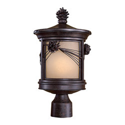 The Great Outdoors - The Great Outdoors 9156-A357-PL 1 Light Post - The Great Outdoors 9156-A357-PL 1 Light Post