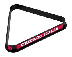 Trademark Global - Chicago Bulls NBA Billiard Ball Rack - High Impact Styrene Construction. Officially Licensed Art on All Three Sides and Each Point of the Rack. 15 Ball Capacity for Regulation Size Balls. Dimensions: 11.25 x 12.375 x 1.25 inchesA perfect rack is crucial to the game of billiards. Ensure your balls are precisely racked in this officially licensed billiard ball rack. High impact styrene construction guarantees a long-lasting rack that holds its shape. Each side and point of the rack features officially licensed art. Bring home an officially licensed rack to your pool table.