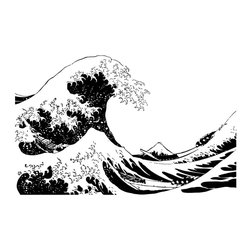 Japanese Great Wave Hokusai Wall Decal - Some wall decals may come in multiple pieces due to the size of the design.