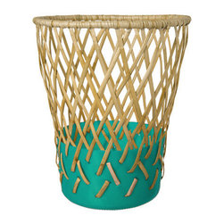 Areaware Bow Bin, Teal - Doing homework means that sometimes mistakes are made and that starting over is always a possibility. This whimsical wastebasket would be great for collecting all those crumpled white papers.