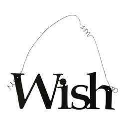 Inspirational Word WISH Wall Hanging Home Decor Metal - This listing is for one inspirational word, WISH