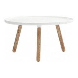 Tablo table large, glossy white - Simple, clean and functional — pure Scandinavian design. Whether you use this as a coffee table, bedside table or even dining table, there will always be a need in your home for a Norman Copenhagen table.