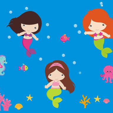 Mermaid Wall Decals - PRODUCT DETAILS: