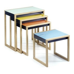 Albers Nesting Tables by Ameico - Albers Nesting Tables by Ameico. Produced in collaboration with the Josef and Anni Albers Foundation.