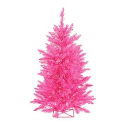 Vickerman 3 ft. Hot Pink Pre-lit Christmas Tree