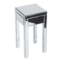 Office Star - Office Star Avenue Six Reflections End Table in Silver Mirror - Reflections end table in silver mirror