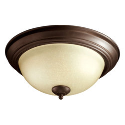 "Quorum International - Quorum 3073-13-86 13"" Amber Scavo Flush Mount - Ob - Quorum 3073-13-86 13"" Amber Scavo Flush Mount - Ob"