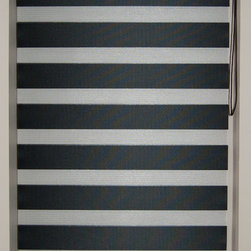 "CustomWindowDecor - 60"" L, Basic Dual Shades, Black, 34-3/8"" W - Dual shade is new style of window treatment that is combined good aspect of blinds and roller shades"