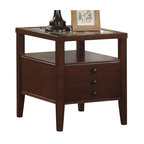 Riverside Furniture - Riverside Furniture Avenue Rectangular End Table in Dark Cherry - Riverside Furniture - End Tables - 61009 - The Arkansas River Valley is home of majestic forests, ruggedly beautiful mountains, gurgling brooks and swiftly flowing rivers. It is also the home of Riverside Furniture Corporation. But like they would with any old friend, most folks refer to us just by our first name.