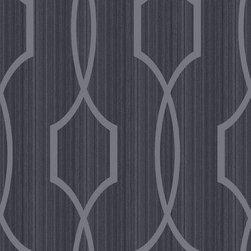 Candice Olsen - Palladian Wallpaper, Charcoal - Palladian Wallpaper by Candice Olsen
