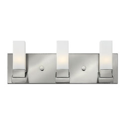 Hinkley Lighting - Hinkley Lighting 57203PN Polished Nickel 3 Light 18.75 Width ADA Compliant Bathr - Hinkley Lighting 57203PN Omni 3 Light Vanity Light This product from Hinkley Lighting comes in a polished nickel finish. It is offered with etched opal