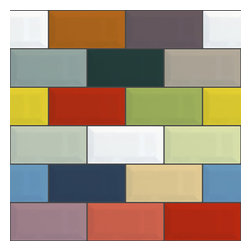 WallsNeedLove - Removable Wallpaper - Retro Color Bricks - Ah, the building blocks of style. This removable wallpaper is a great way to add a sleek modern look to your home.