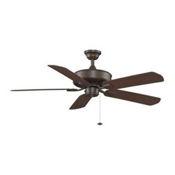 Fanimation - Fanimation EdgeWood 52 Wet Location Ceiling Fan in Oil-Rubbed Bronze - Fanimation EdgeWood 52 Wet Location Model FA-TF910OB in Oil-Rubbed Bronze with Dark Cherry ABS All-Weather Composite Finished Blades.