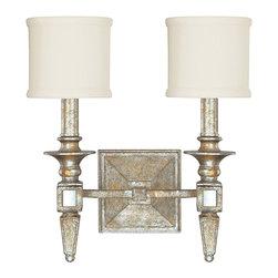 Capital Lighting - Capital Lighting 8482SG-535 Palazzo Silver & Gold Leaf Wall Sconce - Capital Lighting 8482SG-535 Palazzo Silver & Gold Leaf Wall Sconce