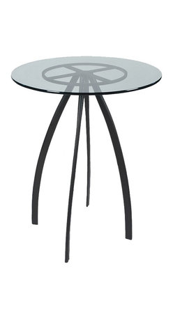 """Mathews & Company - Chanal 40"""" Bar Table Base Only - This modern Chanal 40"""" Bar Table Base Only allows you to use your own table top such as granite, custom wood, stone, or glass. Pictured in Black finish."""