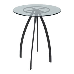 "Mathews & Company - Chanal 40"" Bar Table Base Only - This modern Chanal 40"" Bar Table Base Only allows you to use your own table top such as granite, custom wood, stone, or glass. Pictured in Black finish."