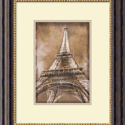 Amanti Art - Erin Clark 'Eiffel Tower' Framed Art Print 18 x 22-inch - Decorate with France's most famous landmark -- the Eiffel Tower! This Paris-inspired print will lend any room a European flair.