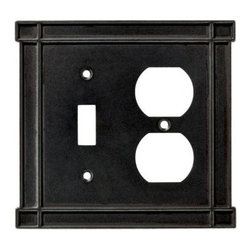 Liberty Hardware - Liberty Hardware 144070 Arts & Crafts WP Collection 5.16 Inch Switch Plate - Sof - A simple change can make a huge impact on the look and feel of any room. Change out your old wall plates and give any room a brand new feel. Experience the look of a quality Liberty Hardware wall plate.. Width - 5.16 Inch, Height - 4.88 Inch, Projection - 0.24 Inch, Finish - Soft Iron, Weight - 0.55 Lbs