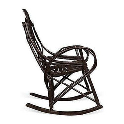 """Pre-owned Amish Bentwood Rocking Chair - A twig and slatted wood rocking chair built by the Amish in the 1950s. This chair is in excellent vintage condition with a lot of life left to be enjoyed in your space.    Rocker leg, 31""""L"""
