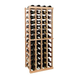 Wine Cellar Innovations - 4 ft. 4-Column Individual Wine Rack (Premium Redwood - Midnight Black Stain) - Choose Wood Type and Stain: Premium Redwood - Midnight Black StainBottle capacity: 52. Four column wine rack. Versatile wine racking. Custom and organized look. Beveled and rounded edges. Ensures wine labels will not tear when the bottles are removed. Can accommodate just about any ceiling height. Optional base platform: 18.7 in. W x 13.38 in. D x 3.81 in. H (5 lbs.). Wine rack: 18.7 in. W x 13.5 in. D x 47.19 in. H (6 lbs.). Vintner collection. Made in USA. Warranty. Assembly Instructions. Rack should be attached to a wall to prevent wobble