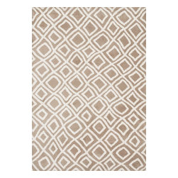 "Loloi Rugs - Loloi Rugs Charlotte Collection - Beige, 5' x 7'-6"" - The Charlotte Collection's striking patterns may draw you into a room, but it is the incredibly soft surface that will keep you there. Whether you are kicking your shoes off after a long day of work or just enjoying a lazy Sunday, your feet will appreciate the comfy microfiber feel. With a surface this soft, Charlotte is the ideal choice as a bedside accent, family room centerpiece, and even a bathroom rug in a scatter size. What's more, Charlotte's 100% polyester fibers are highly stain and moisture resistant, so its colors remain vibrant over time."