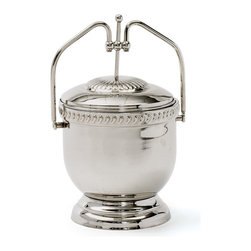 Go Home - Nickel Polished Lincoln Ice Bucket - Wonderful Nickel Polished Lincoln Ice Bucket with lid provide high quality bar ware for your home. Great for entertaining guests and parties and it is a great gift idea.A double wall construction provides insulation and keeps your ice cool and clean at social gatherings.It is made with brass and polished with nickel.