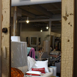 Large White Mirror - These pieces are made from recycled glass and have a nautical theme.  They can be used to accessorize any space in your home.