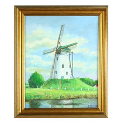 D Geerolf - Consigned Vintage Framed Oil Painting Windmill Plein - Product Details