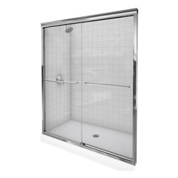 """Kohler - Kohler K-702209-L-NX Brushed Nickel Fluence Fluence Sliding Shower - Fluence 47-5/8""""W x 70-5/16""""H Frameless Bypass Bath Tub Door with Crystal Clear Glass and Towel BarsThe Fluence bypass bath door features a Eurostyle frameless design with Crystal Clear(TM) 3/8""""-thick tempered glass. Designed to accommodate out-of-plumb installations, this door features a continuous panel guide for smooth, quiet sliding action.70-5/16""""H x 44-5/8"""" - 47-5/8""""W3/8"""" frameless, thick Crystal Clear tempered glassCleanCoat(TM) glass coating repels water for easy cleanupContinuous door panel guide mechanism for smooth, quiet sliding actionStainless steel hardware prevents rusting or corrosionGently curved inside and outside towel barSmooth, easy-to-clean wall jambs"""